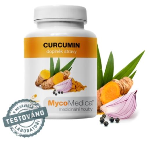 Kurkumin - dobře vstřebatelná forma pro tělo (s piperinem a quercetinem) MycoMedica