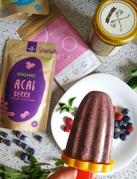 Borůvkovo tvarohová probiotická zmrzlina WUGI recepty