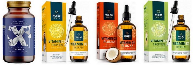 Kvalitní vitamin D3 a K2 - WUGI.cz