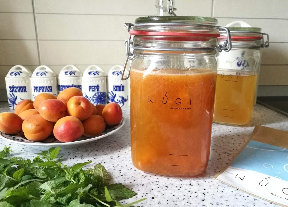 Meruňková fermentovaná limonáda WUGI