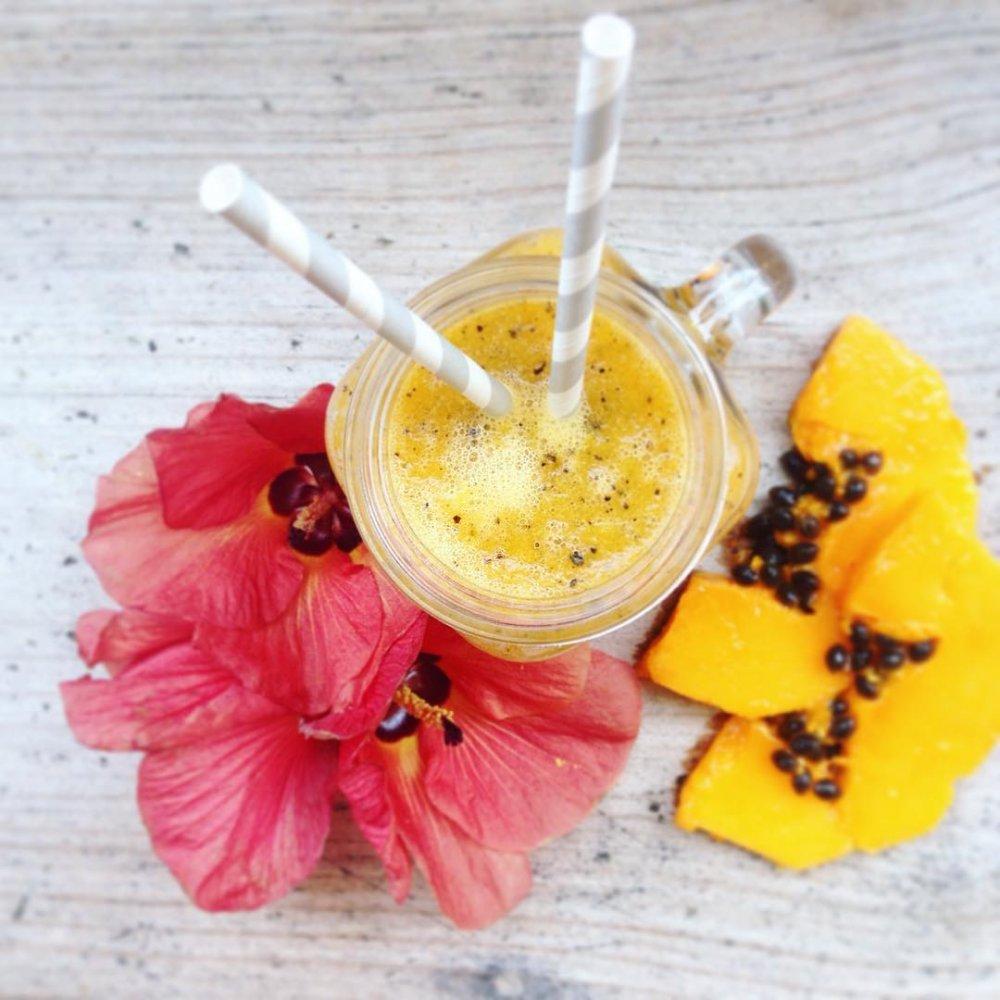 Papájové probiotické smoothie - WUGI zdravé léto