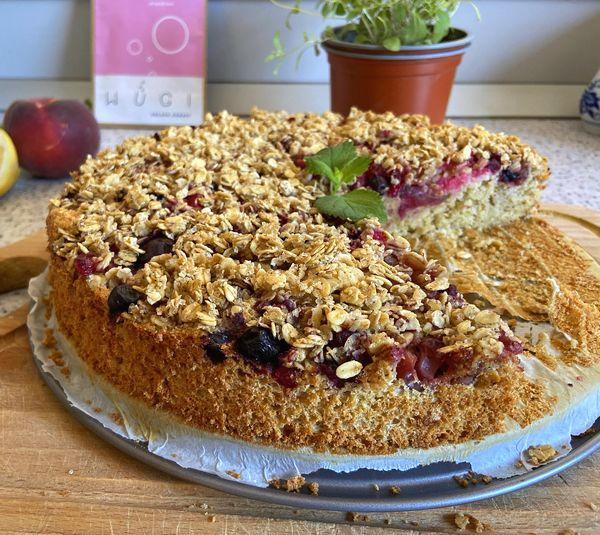 Ovocný drobenkový koláč bez cukru, lepku a mléka WUGI recepty