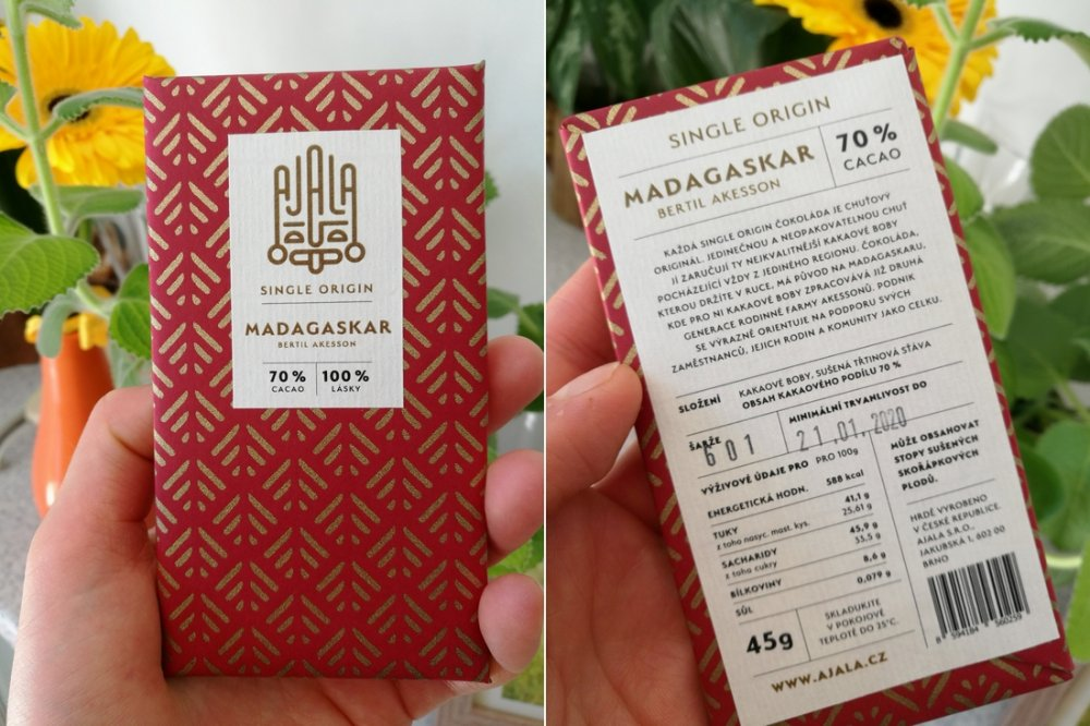 WUGI Ajala čokoláda single origin Madagaskar