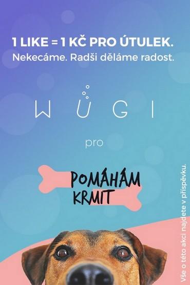 1 LIKE = 1 KČ pro útulek. Akce na WUGI.cz