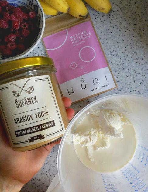 Barevná arašídová probiotická zmrzlina bez cukru - WUGI recepty