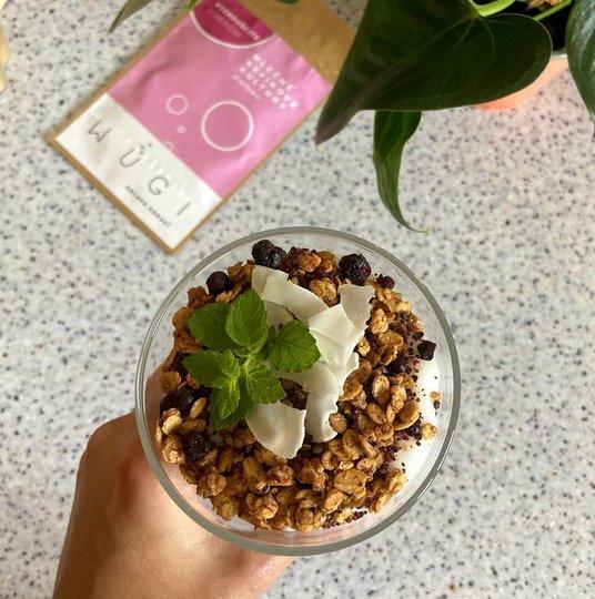 Prebiotická domácí arašídovo-čokoládová granola WUGI